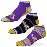 Lsu Tigers For Bare Feet Cash Three-pack Ankle Socks