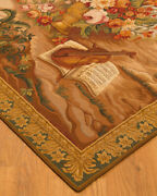 4and0399x6and0394 Flower Tapestry Wool Area Throw Rug Carpet