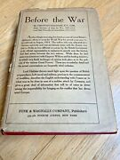 1920 - Before The War By Viscount Haldane. Wwi With Dust Jacket