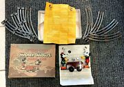 See Pics Mickey Mouse Hand Car Made In Us By Pride Lines Ex / Original Box