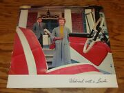 1957 Lincoln Premiere Vip Deluxe Sales Brochure Mailer 57 Convertible Coupe