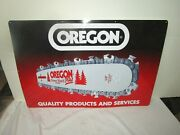 Oregon Chainsaw Embossed Raised Letters Metal Sign