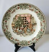Churchill Victorian Christmas Brown Multi Color Dinner Plate 10