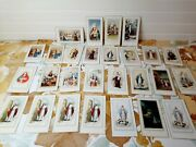 Lot Of 27 Vintage Catholic Prayer Cards Funeral Minster Ohio 50s 1950s Italy
