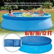 Round Above Ground Swimming Pool Cover For Intex Bestway Paddling Pools 4 Sizes