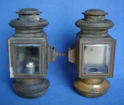 Left And Rightpair Of Eandj/corcoran Brass Model T Ford Side Lamps Lightspre-1915