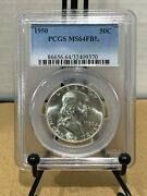 1950 Franklin Half Dollar 50c Ngc Ms64fbl Mint State 64 Full Bell Lines
