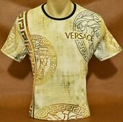 Brand New With Tags Menand039s Versace Short Sleeve T-shirt Size M To 3xl