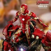 Restocked Hot Toy 16 Mms278d09 Avengers Age Of Ultron Iron Man Mark 43 Statue