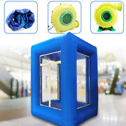 9ft Inflatable Cash Cube Money Machine Advertising Promotion With 2 Air Blower