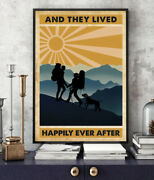 Hiking Couple And They Lived Happily Ever After Printed Vertical Poster