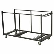 80193 Table Cart With Heavy Duty Steel Black Sand Finish
