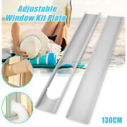 2pcs Portable Adjustable Window Slide Kit Plate Vent Adapter For Air Conditioner