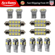 14pcs Led Car License Plate Mixed Light Interior Kits Fit For 1998-2016 Ford