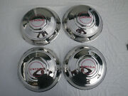 4 Vintage 1948 Lincoln Continental Hub Caps-excellent Concours Condition-nice