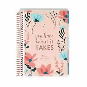Erin Condren Coiled A5 Daily Wellness Planner Features 160 Pages Of 80 Pound Mo