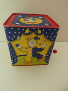 Vintage Clown Jack In The Box In Metal Tin - Plays Tune By Schylling