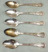 Antique 1933 A Century In Progress Expo World's Fair Lot Spoons Chicago