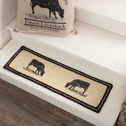 Country Primitive Sawyer Mill Cow Braided Jute Stair Tread 27table Runner