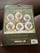 Dimensions Gold Collection Cross Stitch Kit 8530 Windswept Santa Ornaments