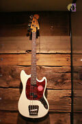 Squier Classic Vibe And03960s Mustang Electric Bass Laurel Fretboard Olympic White