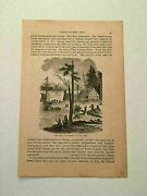 Kp55 Dutch First Settlement Of New York Native American Indians 1884 Engraving
