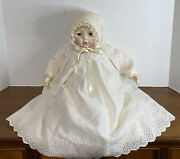 Antique Madame Alexander 1960 Victoria Baby Doll 18 With Original Outfit