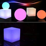 16 Led Light Cube Stools Chair Garden Seat Light Rgb Color Changing Stool Sale