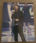 Casey Abrams Signed 8x10 Photo American Idol Gingerbread House W/coa+proof Wow