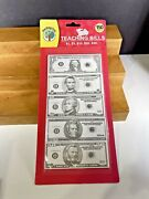 Vintage Nos Sealed 90steaching Tree Teaching Bills 1to 50 Play Money Counting