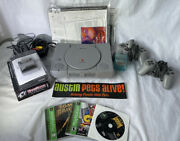 Original Sony Playstation 1 Bundle, Cords, Controllers, Memory Cards And Games
