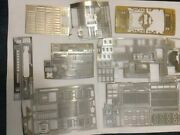 N Scale Model Train Etched Metal Detailing Decals, And Accessories Package