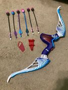 Nerf Rebelle Agent Bow. Purple And Teal No String. Used- Good. Extra Arrows
