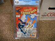 Web Of Spiderman 36 Cgc 9.8 Marvel 1988 1st Appearance Of Tombstone White Pgs Nm