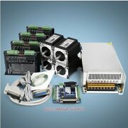 4 Axis Cnc Controller Kit Nema23 1.96n.m Stepper Motor And Engmate Stepper Driver