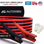 New Heavy Duty Jumper Booster Cables Commercial Grade Battery 4 Gauge 20ft 600 A
