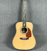D45 Acoustic Electric Guitar Abalone Rosewood Back Side Spruce Top Fast Ship
