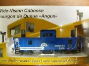 Rapido Ho Conrail Wide Vision Caboose Lighted Interior Working Marker Lights Oop