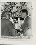 1960 Press Photo President-elect John F. Kennedy And Cia Director Allen Dulles.