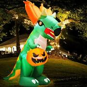 9ft Blow Up Inflatables Dinosaur Triceratop Ghost Pumpkin Led Lights Halloween