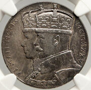 1935 Great Britain King George V Queen Mary Old Silver Jubilee Medal Ngc I94011