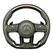 Steering Wheel Carbon Fiber Made For Mb G Wagon W463a W464 S W222 Cls W217 2015+