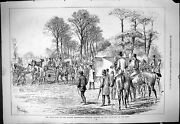 Old 1877 Meet Queenand039s Staghounds Hunting Uncarting Deer Sport Horses Victorian