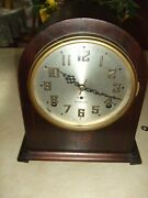 Seth Thomas Plymouth Round Top Mantle Clock Exceptionally Clean Reduced
