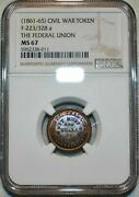 Federal Union Army And Navy Cival War Token Ngc Ms67 Bn Finest Known Grade