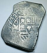 1732/1 Shipwreck Mexico Silver 8 Reales Dated Spanish Colonial Dollar Cob Coin