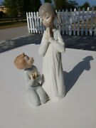 Lladro Figurines Collectibles Prayer Girl And Boy Damaged
