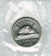 1964 5 Cents Perfect Coin Very Strong And Clear Strike Taken From Set