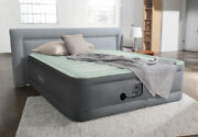 Intex 18in Queen Dura-beam Premaire I Elevated Airbed With Internal Pump New