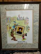 Disney One Of A Kind Photo Signed By Over 100 Artists And Employees Make Offer